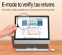 E-mode to verify tax returns
